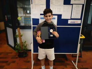 NBV-As Ilian Mechbal gewinnt die Regionalmeisterschaften inKölnin der U11 Konkurrenz