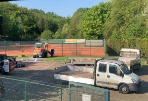PSV Tennisabteilung in Corona Zeiten: Sanierung des Platzes 2