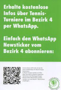 Infos über Turniere im Bezirk 4 per WhatsApp