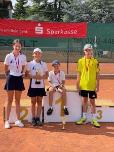 Erfolge der Tennis Jugend von Blau-Weiß Ronsdorf bei den 56. Wuppertaler Stadtjugendmeisterschaften